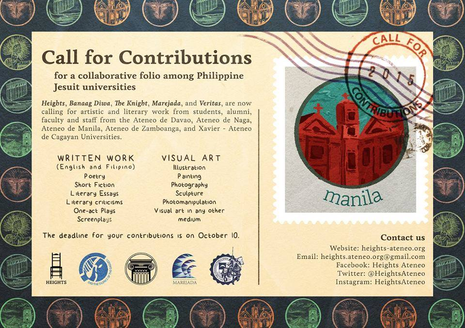 Call for contributions to collaborative folio by Philippine Jesuit universities